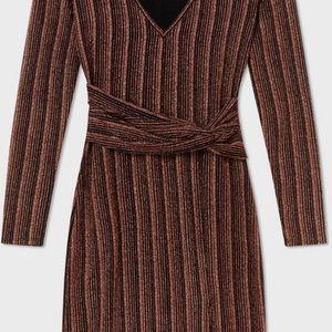 Miss selfridge bronze metallic, sexy, cool dress.